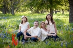 The 'B' Family Outdoor Bluebonnet Portraits + Boerne Texas