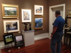 Fredericksburg Texas Art: Touring the First Friday Art Walk, Art Galleries, shopping in downtown Fbg Tx