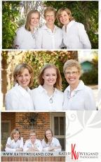 3 Generations Portrait at the Magnolia House B&B in Fredericksburg Texas
