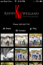 New Portrait Phone APP … share your photos anytime!   + Fredericksburg TX High School Seniors Photographer