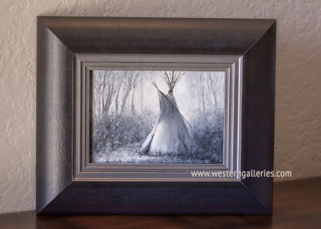 """""""Secluded"""" B&W oil"""