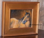 New Quarter Horse oil painting by KWeigand of Fredericksburg Tx